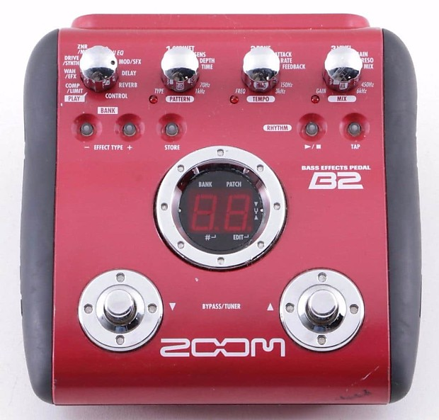 zoom b2 bass multi effects pedal manual