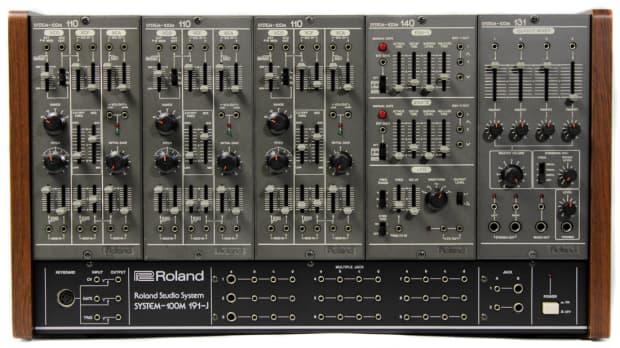 roland system 100m modular synthesizer 3 voice reverb. Black Bedroom Furniture Sets. Home Design Ideas