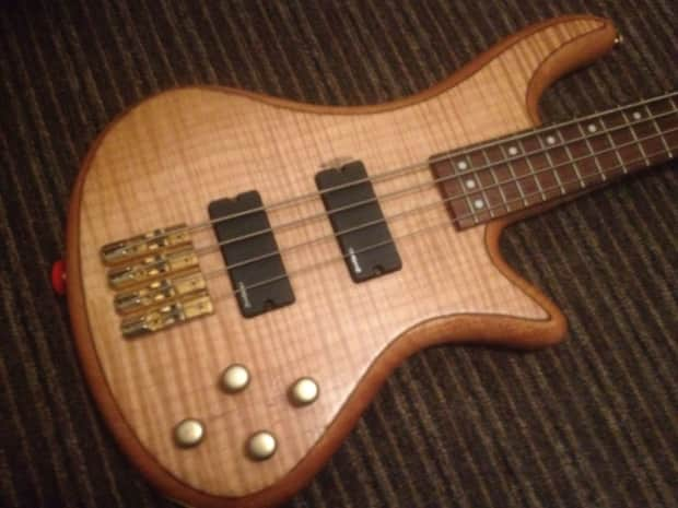 schecter stiletto custom 4 diamond series emg bass guitar reverb. Black Bedroom Furniture Sets. Home Design Ideas