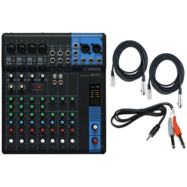 yamaha mg10 10 input stereo mixer w 3 cables reverb. Black Bedroom Furniture Sets. Home Design Ideas