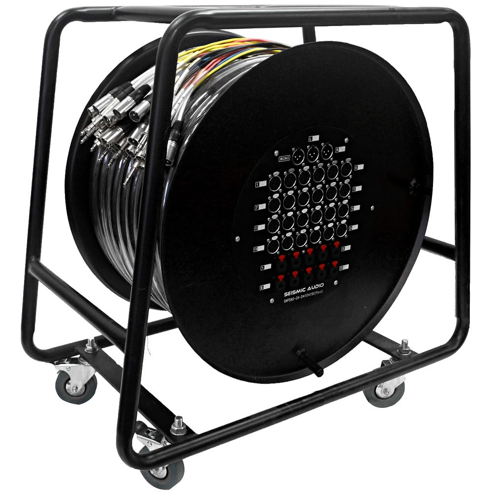 24 Channel 150 Snake Cable On A Reel Compatible With