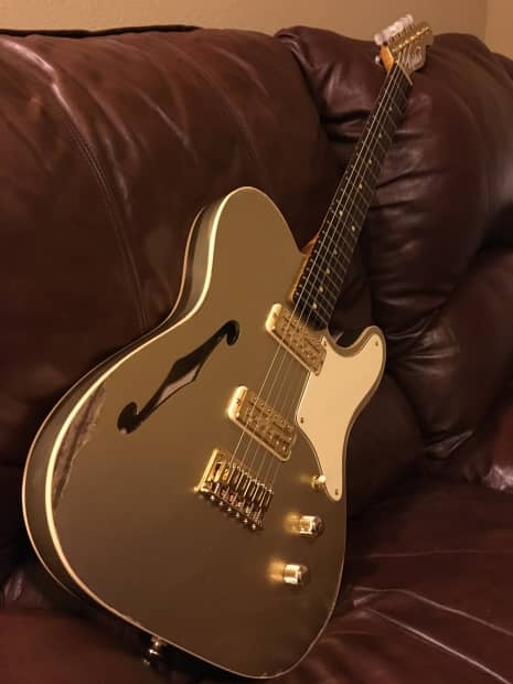 rohlack guitars thin catalina t 2016 gold rush edition reverb. Black Bedroom Furniture Sets. Home Design Ideas