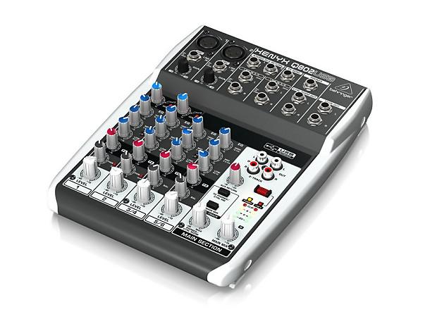 behringer q802usb 8 channel mixer reverb. Black Bedroom Furniture Sets. Home Design Ideas