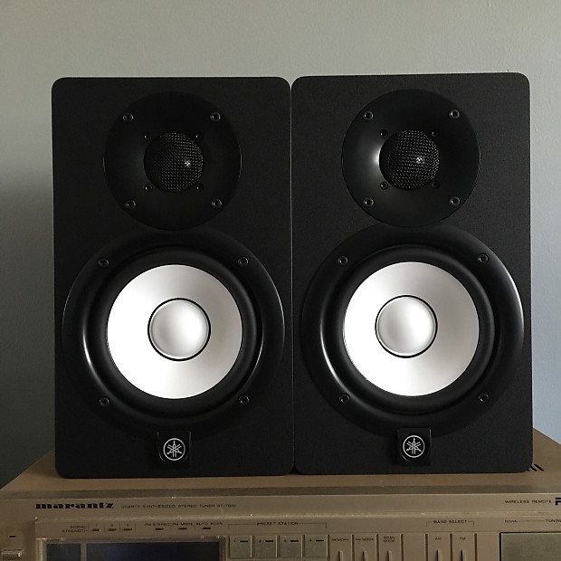 yamaha hs5 5 powered studio monitors pair reverb