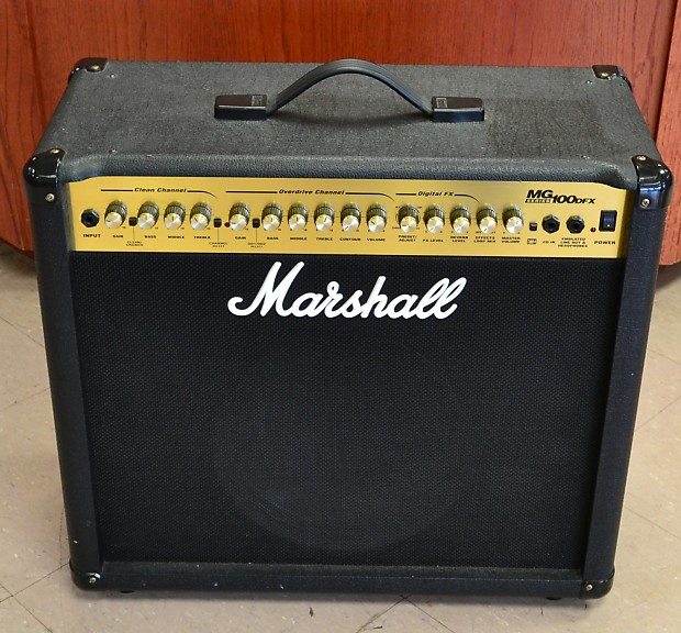 marshall mg100dfx guitar combo amplifier amp 100w 1x12 reverb. Black Bedroom Furniture Sets. Home Design Ideas