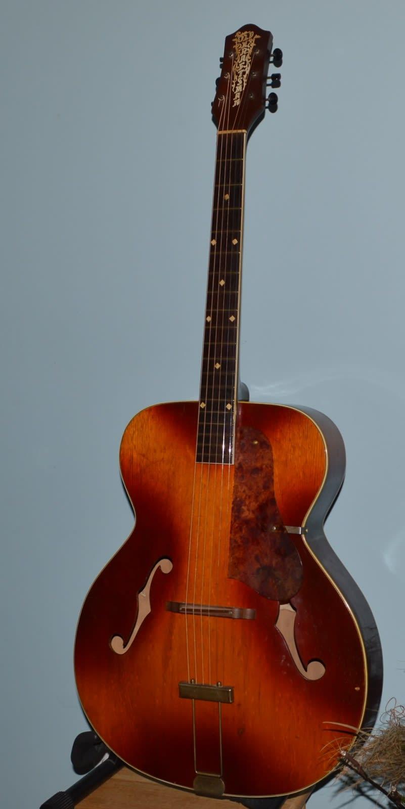 vintage 1950 39 s old kraftsman arch top acoustic guitar reverb. Black Bedroom Furniture Sets. Home Design Ideas