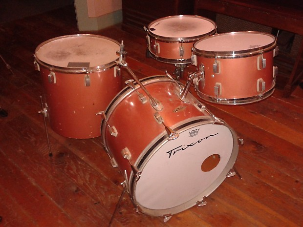 Vintage trixon 4 piece drum set reverb for 13 inch floor tom
