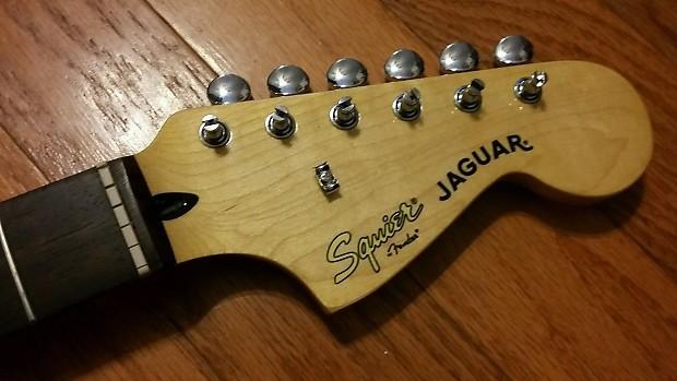 fender squier jaguar guitar neck w tuners neck plate reverb. Black Bedroom Furniture Sets. Home Design Ideas