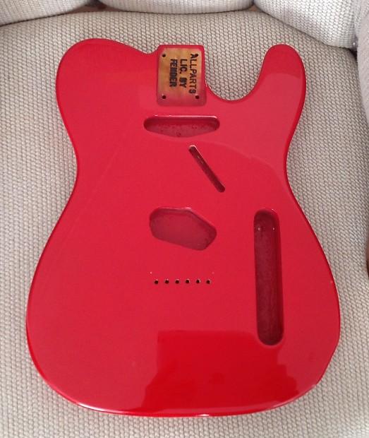 allparts fender guitar body red reverb. Black Bedroom Furniture Sets. Home Design Ideas