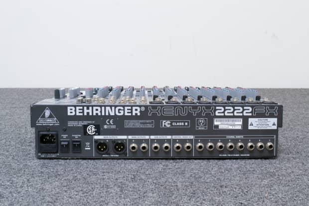 behringer xenyx 2222fx 8 channel line mic mixer reverb. Black Bedroom Furniture Sets. Home Design Ideas