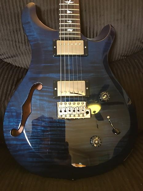 prs s2 custom 22 semi hollowbody whale blue with bird reverb. Black Bedroom Furniture Sets. Home Design Ideas