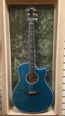 Taylor 616ce  Maple Grand Symphony 2014 Koi Blue. With Case image
