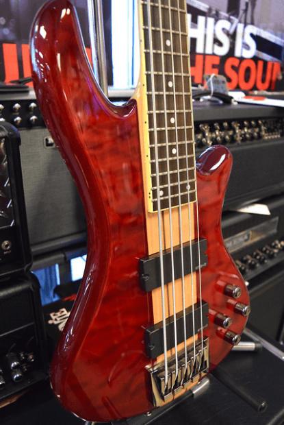 Schecter Stiletto Elite 5 String Bass Guitar Used