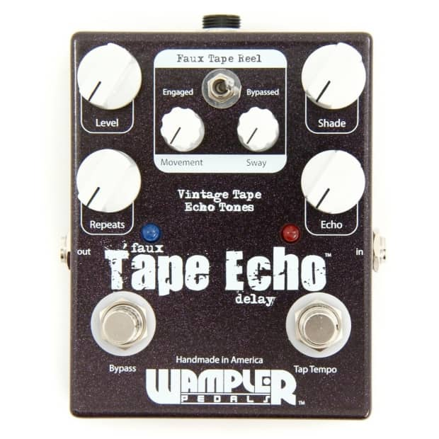 wampler faux tape echo with tap pedal reverb. Black Bedroom Furniture Sets. Home Design Ideas