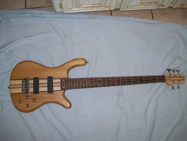 bass guitar 5 string active pickups neck through body reverb. Black Bedroom Furniture Sets. Home Design Ideas