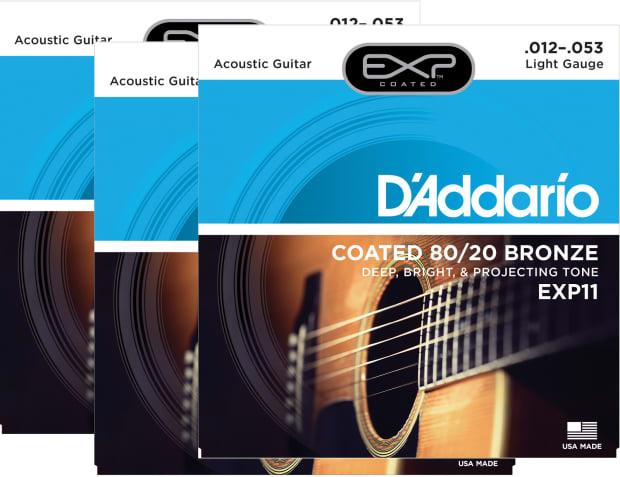 d 39 addario exp11 acoustic guitar strings light 3 pack reverb. Black Bedroom Furniture Sets. Home Design Ideas