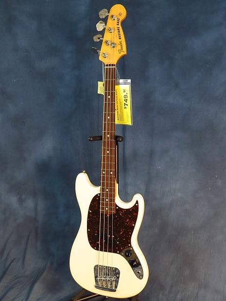 Fender Mij Mustang Bass Olympic White Reverb