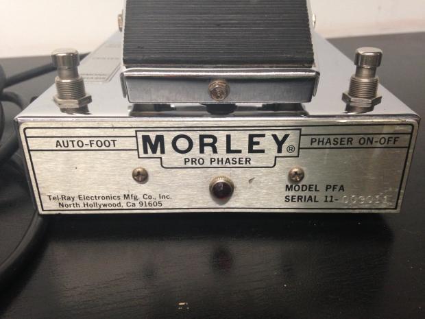 vintage morley tel ray pro phaser pfa 70 39 s guitar phase. Black Bedroom Furniture Sets. Home Design Ideas