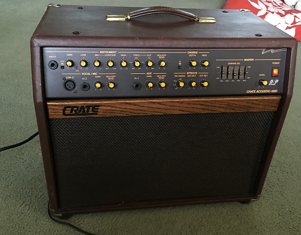 crate ca 125d acoustic guitar amp and pa with footswitch reverb. Black Bedroom Furniture Sets. Home Design Ideas