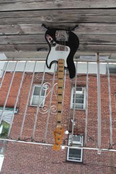 Vintage 1973 Fender Jazz Bass Black & Maple Blocks and Binding image