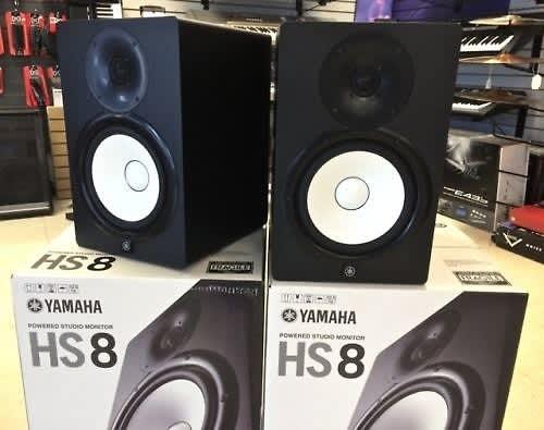 Yamaha hs8 studio monitors hs 8 pair amazing studio for Yamaha hs8 sub