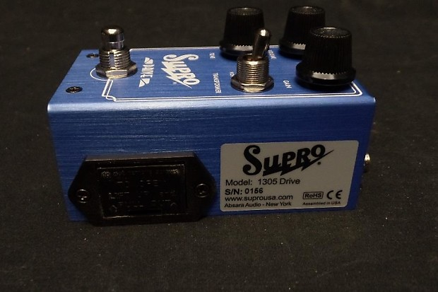 supro usa 1305 drive overdrive guitar bass effect pedal reverb. Black Bedroom Furniture Sets. Home Design Ideas