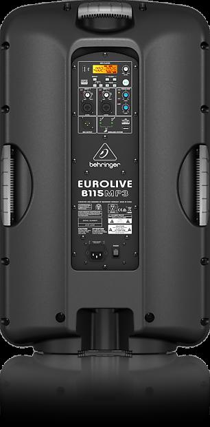 behringer b115mp3 eurolive active 1000w 15 pa speaker w mp3 reverb. Black Bedroom Furniture Sets. Home Design Ideas