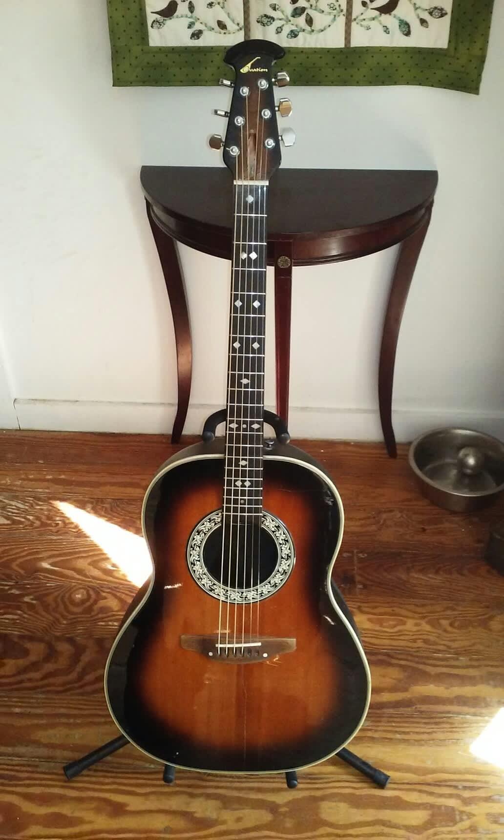 1977 ovation 1112 custom balladeer acoustic guitar 79 bucks reverb. Black Bedroom Furniture Sets. Home Design Ideas