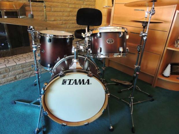 tama silverstar with 18 bass drum reverb. Black Bedroom Furniture Sets. Home Design Ideas