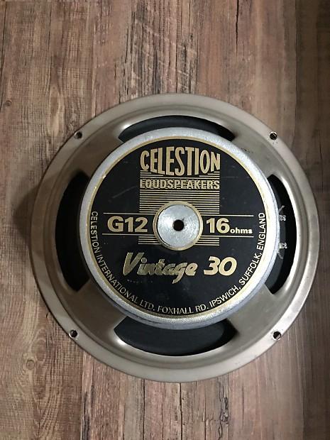 celestion vintage 30 16 ohm speaker made in england reverb. Black Bedroom Furniture Sets. Home Design Ideas