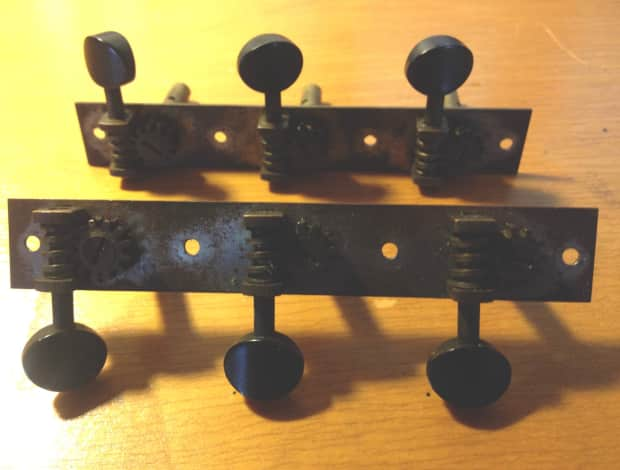 vintage waverly 3x3 tuning machines tuners 1940s martin reverb. Black Bedroom Furniture Sets. Home Design Ideas
