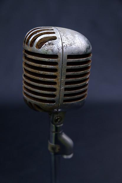 vintage shure 55 fat boy dynamic microphone made in usa elvis reverb. Black Bedroom Furniture Sets. Home Design Ideas