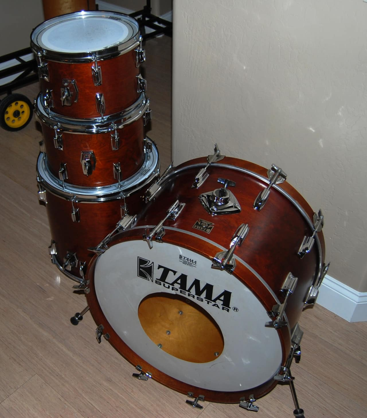 Tama superstar 9600 1979 natural walnut reverb for 13 inch floor tom