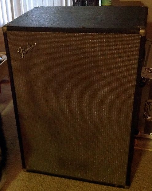 Fender 1970s era black silver cabinet with celestion for Black and silver cabinet