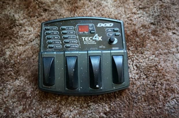 dod tec4x multi effects processor guitar pedal distortion reverb. Black Bedroom Furniture Sets. Home Design Ideas