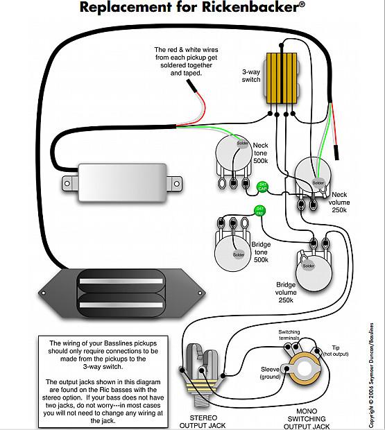 920d Custom Shop Wiring Harness For Rickenbacker 4000