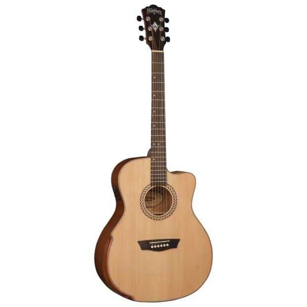 washburn wcg15ce comfort series acoustic electric guitar reverb. Black Bedroom Furniture Sets. Home Design Ideas