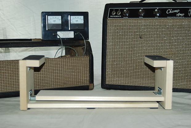 tube amp chassis cradle adjustable for fender or marshall reverb. Black Bedroom Furniture Sets. Home Design Ideas