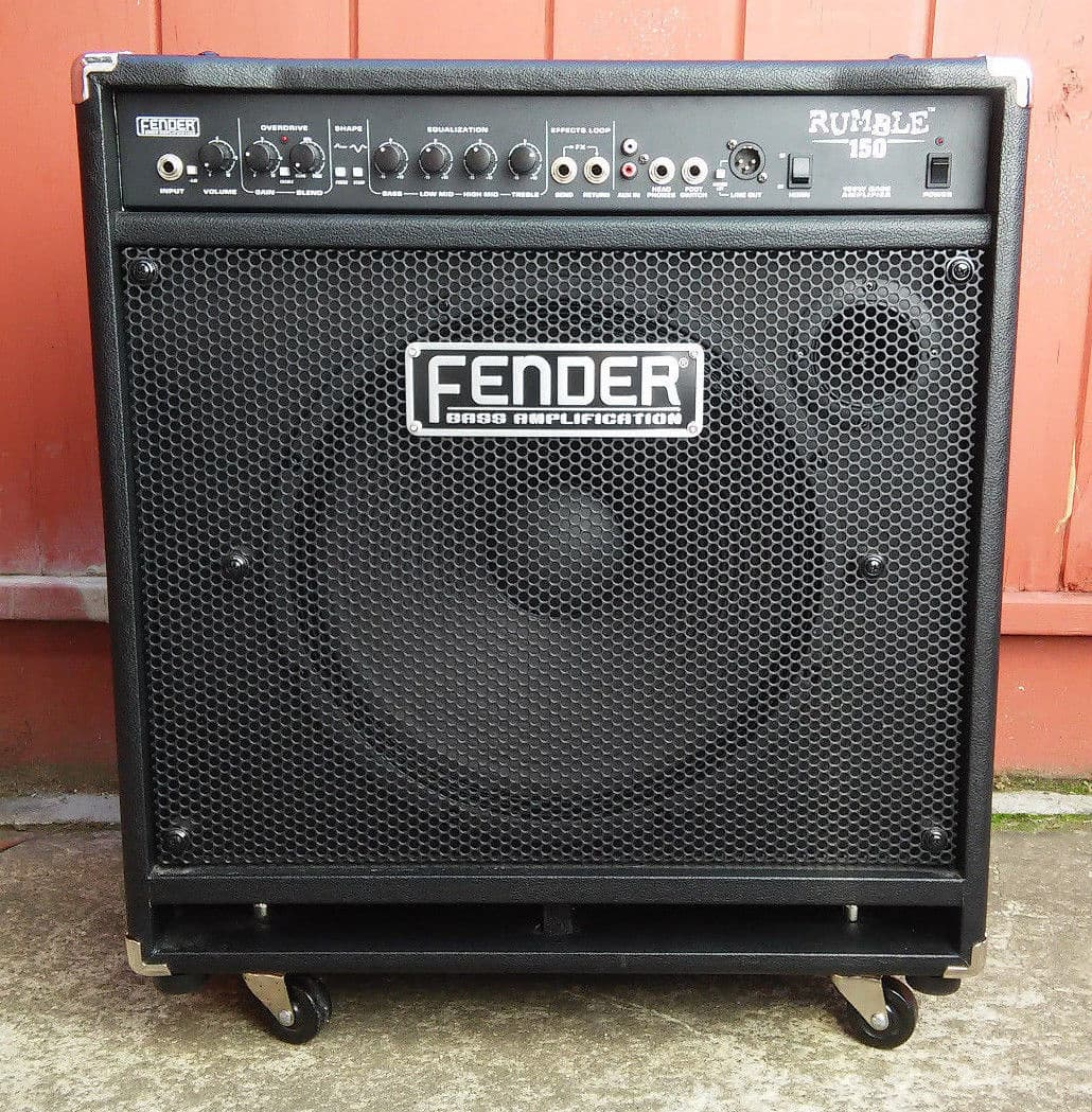 fender rumble 150 bass combo amp 1x15 speaker 150 watt black reverb. Black Bedroom Furniture Sets. Home Design Ideas
