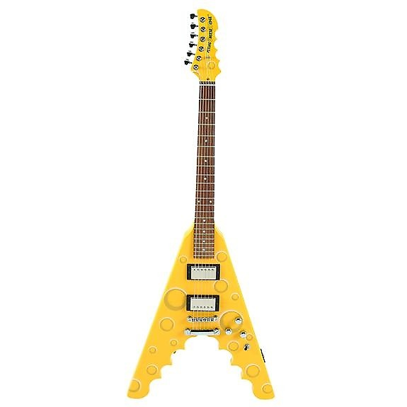 archer flying cheese wedge electric guitar fun and unique reverb. Black Bedroom Furniture Sets. Home Design Ideas
