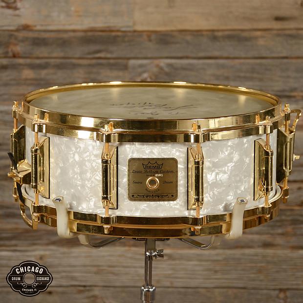 remo louie bellson custom snare drum 501 1000 white reverb. Black Bedroom Furniture Sets. Home Design Ideas