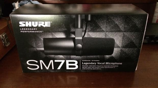 shure sm7b mic in box never used low reverb. Black Bedroom Furniture Sets. Home Design Ideas