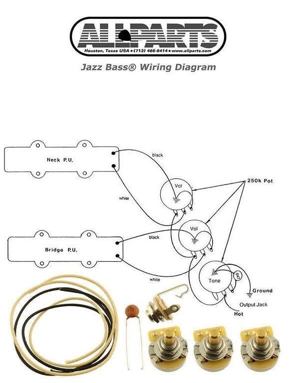 new jazz bass pots wire wiring kit for fender jazz bass reverb