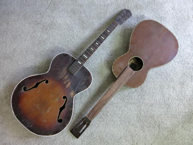 vintage 1940s supertone regal silvertone 2 acoustic guitar reverb. Black Bedroom Furniture Sets. Home Design Ideas
