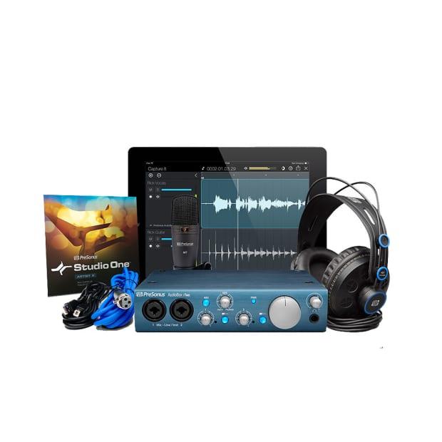 presonus audiobox itwo studio recording bundle 2x2 reverb. Black Bedroom Furniture Sets. Home Design Ideas