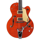 Gretsch G6120SSL Brian Setzer Nashville Electric Guitar Tiger Orange w/Case *2015 Shop Demo* image