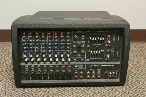 mackie 808s 8 channel 1200w stereo powered mixer reverb. Black Bedroom Furniture Sets. Home Design Ideas