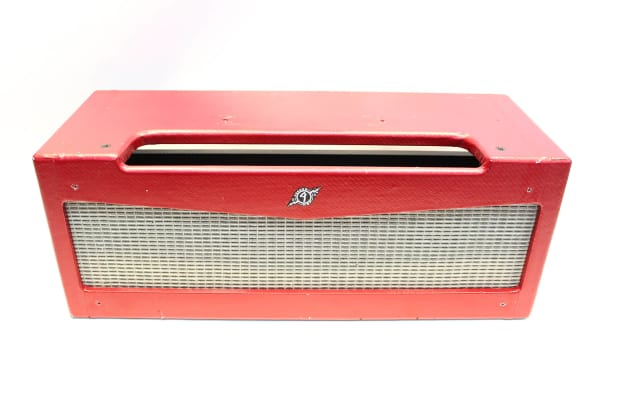 fender mustang amp head empty shell cabinet red tolex reverb. Black Bedroom Furniture Sets. Home Design Ideas