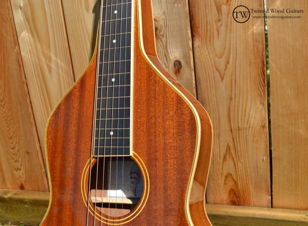 Balance series by twisted wood guitars solid mahogany