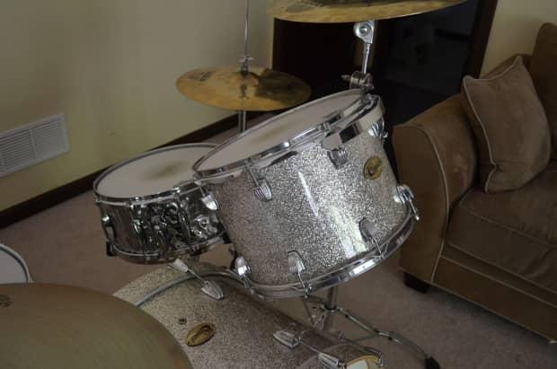 Ludwig Centennial Maple Full Zep Set Silver Sparkle